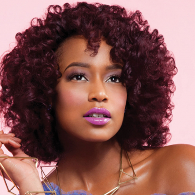 Natural textured hair get the look