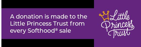 Se hace una donación a Little Princess Trust por cada venta de Softhood®