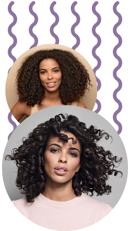 Curlformers® Spiral curl before and after