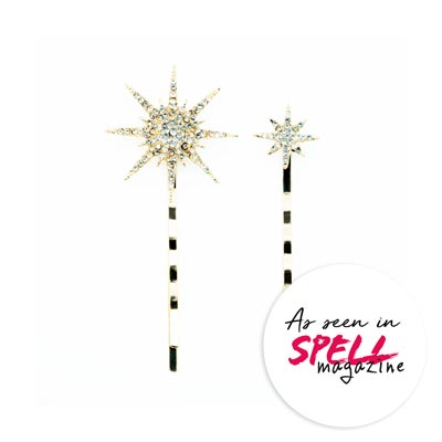 Star Flair hair pins as seen in Spell Magazine