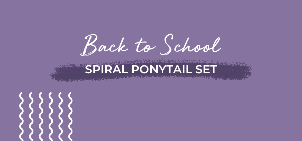 Back to School Spiral Ponytail set