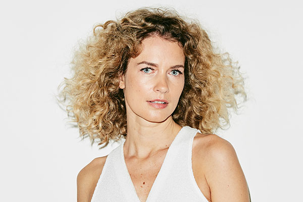 Hair permed with Hairflair Curlformers Corkscrew curls