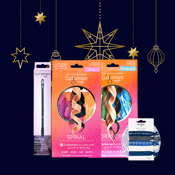 Gift Spiral & Corkscrew Starter packs with FREE Blueberry Hair Ties